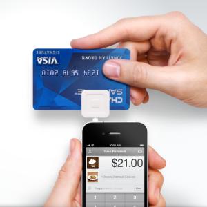 Square - urządzenie do płatności kartą kredytową.