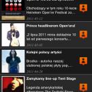 Aplikacja: Opener 2011 - Ekran newsy festiwalowe