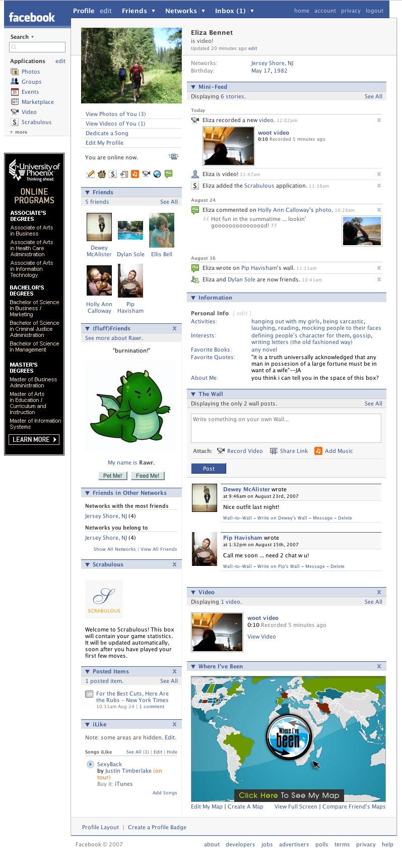 Facebook w 2007 roku