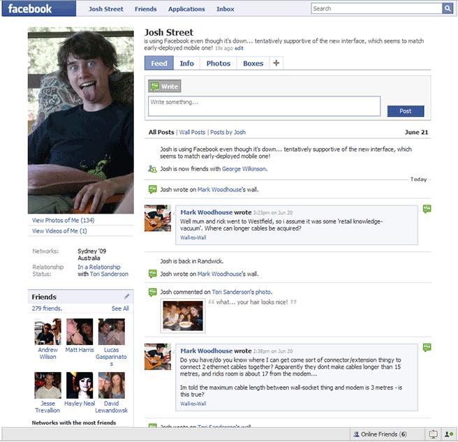 Facebook w 2008 roku