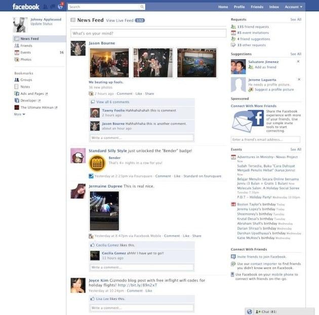 Facebook w 2010 roku