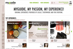 MyGuidie.com screen