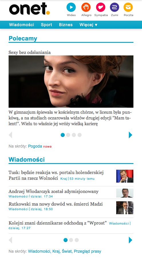 beta.m.onet.pl - Mobilny Onet