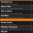 Aplikacja: Opener 2011 - Ekran artyści