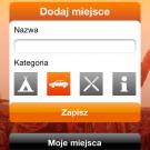 Aplikacja: Opener 2011 - Ekran zapisywanie miejsc (GPS)